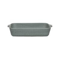 GALET - oven dish - stoneware - L 26 x W 16 x H 5 cm - grey blue