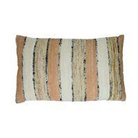 SHIKHA - cushion - stripes - linen / viscose - L 30 x W 50 cm