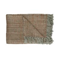 SHIKHA - throw - linen / viscose - L 130 x W 170 cm - beige