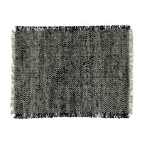 SHIKHA - set/4 placemats - linnen / viscose - L 48 x W 33 cm - zwart