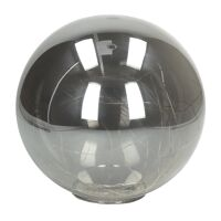 GLITTER - bulb with lightchain - battery - glass - DIA 20 cm - smoked gray