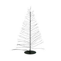 GLITTER - x-mas tree 120 leds - transfo w/timer - metal - DIA 12 x H 45 cm - black