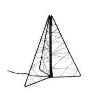 GLITTER - x-mas tree leds - transfo w/timer - metal - L 20 x W 20 x H 25 cm - black
