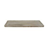PUZZLE - plateau - bois de mangier - L 40 x W 28,5 x H 1,6 cm - naturel