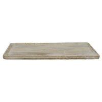 PUZZLE - plateau - bois de mangier - L 50 x W 32 x H 1,6 cm - naturel