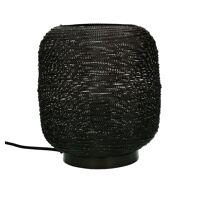 SHIARAN - lampe de table - métal - DIA 25 x H 24 cm - noire antique