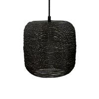 SHIARAN - suspension - métal - DIA 24 x H 24 cm - noire antique