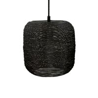 SHIARAN - hanglamp - metaal - DIA 24 x H 24 cm - antiek zwart