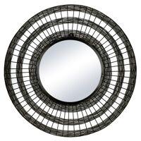 SHIARAN - mirror - metal - DIA 70 x W 4 cm - antique black