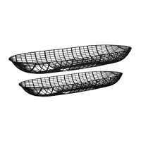 PATRONA - set/2 schalen - metaal - L 50/57 x W 17/20 x H 5/5 cm - zwart