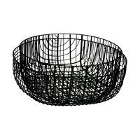 PATRONA - set/2 schalen - metaal - DIA 28,5/33 x H 13/11 cm - zwart