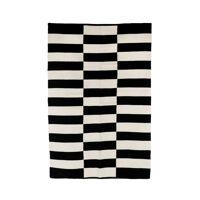 ZITA - carpet - cotton - L 180 x W 120 cm - black/white