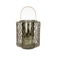 LYKT - lantern - metal / glass - DIA 28 x H 36 cm - taupe