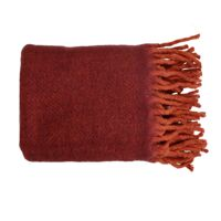 COSY - throw - wool / acrylic - L 130 x W 160 cm - burgundy