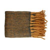 COSY - throw - wool / acrylic - L 130 x W 160 cm - curcuma