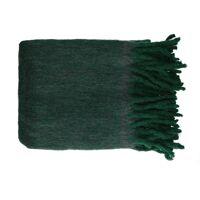 COSY - plaid - laine / acrylique - L 130 x W 160 cm - vert foncé