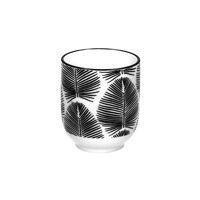 PALME - beker - porselein - DIA 7 x 8,5 cm - zwart/wit