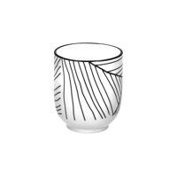 NAISSANCE - beker - porselein - DIA 7 x H 8,5 cm - zwart/wit