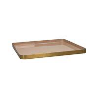 FLEX - tray S - enamel - metal - L 33 x W 33 x H 2 cm - powder pink