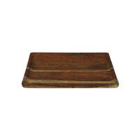 CARVY - tray - acacia wood - L 33 x W 33 x H 1,5 cm - rust