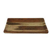 CARVY - tray - acacia wood - L 40 x W 40 x H 1,5 cm - rust