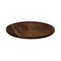 CARVY - tray - acacia wood - DIA 46 x H 2,5 cm - rust