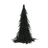 FIGARO - kerstboom - pluimen / papier - DIA 15 x H 35 cm - zwart