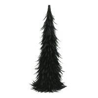 FIGARO - kerstboom - pluimen / papier - DIA 20 x H 60 cm - zwart
