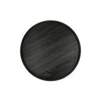 DENVER - dienblad - fineer - DIA 44 x H 2 cm - zwart