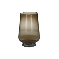 ELYZA - windlicht/vaas - glas - DIA 16 x H 24 cm - amber