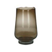 ELYZA - windlicht/vaas - glas - DIA 20 x H 30 cm - amber
