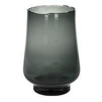 ELYZA - windlicht/vaas - glas - DIA 25 x H 36 cm - smoke