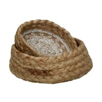 HAMMAM - set/2 baskets - jute - DIA 20/25 x H 8/10 cm  - natural