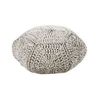 ANNA - pouf - cotton - DIA 65 x H 30 cm - white