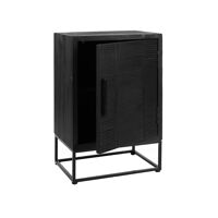 DURBAN  - kast - dennenhout - L 55 x W 40 x H 85 cm - zwart