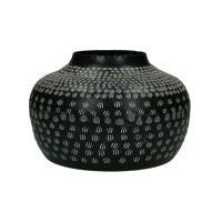 ZEBRA - vase - aluminium - DIA 26 x H 17 cm - black