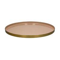 FLEX - tray S- enamel - metal - DIA 45 x H 2 cm - powder pink