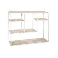 ESZENTIAL - rack - pine wood - metal - L 100 x W 30 x H 80 cm - natural/white