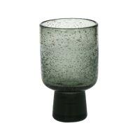 STÈLE - verre à vin - verre - DIA 7,5 x H 13 cm  - gris fumé