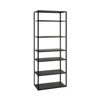 ESZENTIAL - rack - wood/metal - L 60 x W 30 x H 165 cm - black