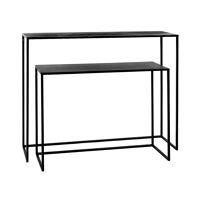 ESZENTIAL - set/2 consoles - metal - L 80/100 x W 30/30 x H 60/80 cm - black