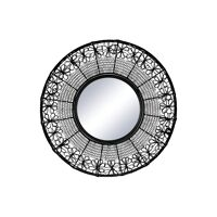 MAZE - mirror - metal - DIA 51 x H 2,5 cm  - black