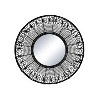 MAZE - mirror - metal - DIA 64 x H 2,5 cm  - black
