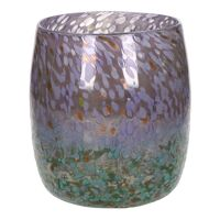 GLITZZ - vase - verre - DIA 21,7 x H 21,6 cm  - rose