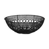 MAZE - basket - metal - DIA 31 x H 11 cm  - black