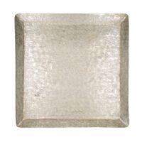 ALINA - plateau - aluminium - L 37 x  W 37 x H 2,5 cm - or