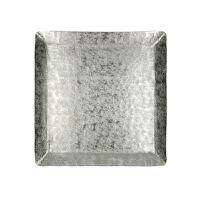 ALINA - dienblad - aluminium - L 27,5 x  W 27,5 x H 2 cm - zilver