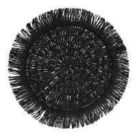 GYULA - set de table - papier - DIA 40 cm - noir