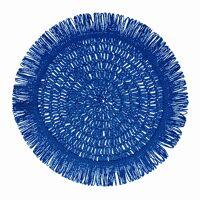 GYULA - placemat - paper - DIA 40 cm - blue