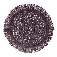 GYULA - set de table - papier - DIA 40 cm - aubergine